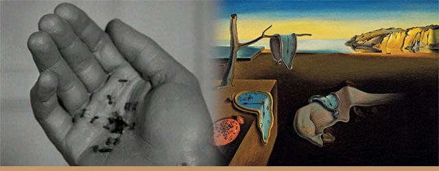 Artes Um Cão Andaluz (esquerda) e A Persistência da Memória (direita)